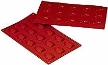 Molde de silicona para hornear molde de silicona para tartas - Madeleine oso huellas 15 formas