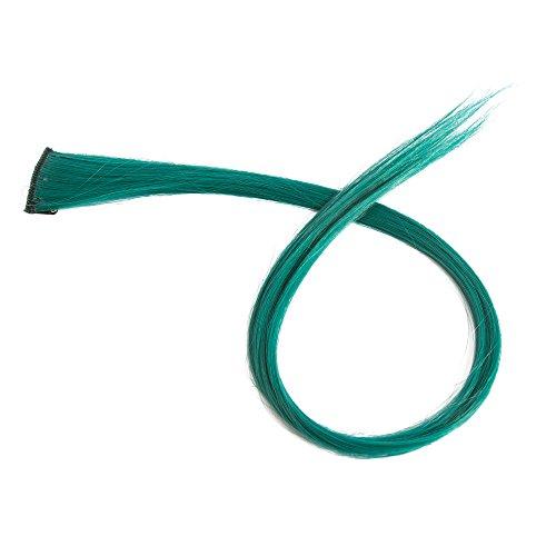 Beauty7 5 PCS Extensions de Cheveux à Clip Coloré Fibre Synthétiques 5g Cosplay DIY Coiffure 50 CM