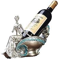 TDPYT Decoración del Estante del Vino/Estante del Vino del Carro del Tirón del Elefante/Ornamentos del Regalo del Estante del Vino De La Resina