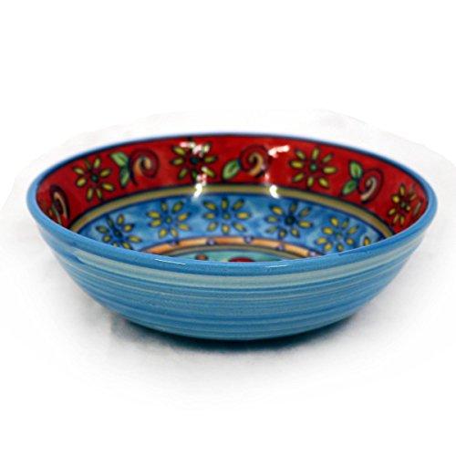 le Müslischale Dessertschale Schüssel Geschirr Keramik farbig bunt Dekoration Blau Rot ()