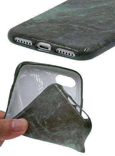 """iPhone 7 Plus 5.5"""" Téléphone Case,[BENKER] IMD Technologie TPU Matériau Coque De Protection Anti-rayures Motif De Marbre Choc Téléphone Ultra-mince Cas et Protecteur D'écran En Verre - Marbre 12 Marbre 3"""