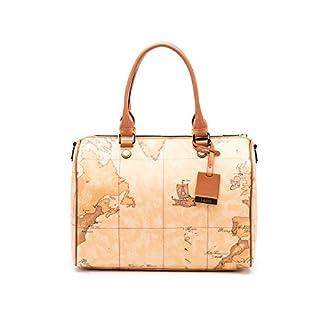 Alviero Martini 1A Classe Women's D08060000010 Beige Leather Shoulder Bag