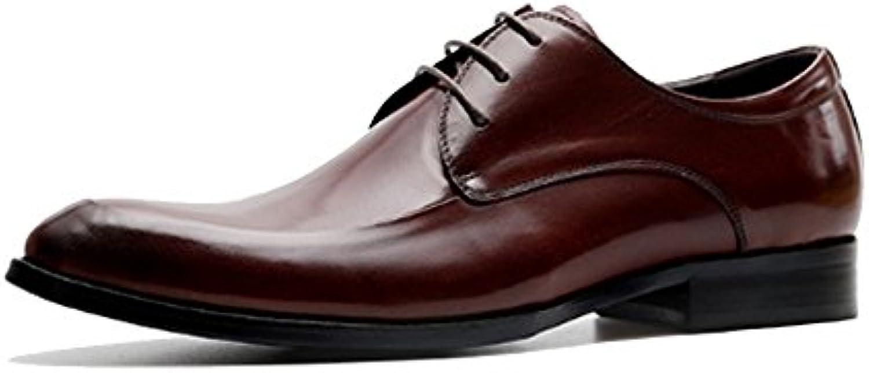NIUMJ Zapatos De Encaje Al Aire Libre Respirables De La Moda Casual Británica De Los Hombres -