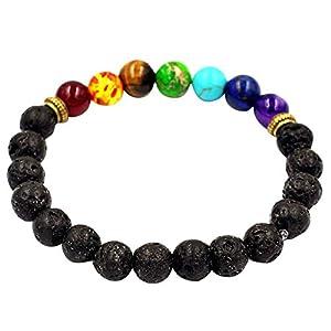 Frauen Männer elastische Perlen Armband,Legierung Achat Vulkanstein Transfer Perlen Armband,Tibet Charm Armbänder,elastische Anti-Müdigkeit Gesundheitswesen,Geschenk für Ihre Freunde Familie