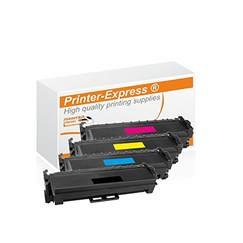 Printer-Express XL Toner 4er Set ersetzt HP CF410X, CF411X,CF412X,CF413X, 410X für HP Color Laserjet Pro M-377, M-452, M-477 Drucker - Patrone F/ Color Laserjet