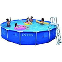 INTEX Metal Frame Set - Piscina desmontable tubular, 457 x 91 cm, con depuradora