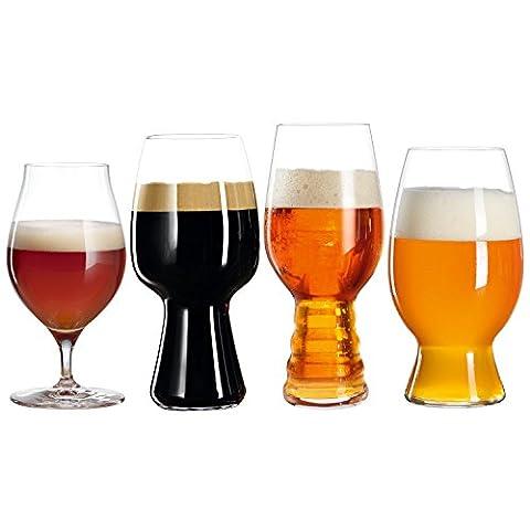 Spiegelau & Nachtmann, 4-teiliges Bier-Verkostungs-Glas-Set, IPA/Stout/Witbier/Barrel Aged Beer, Kristallglas, Craft Beer Glasses, 4991697