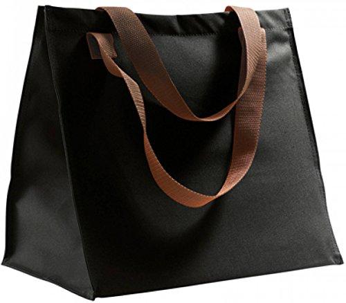 Shopping Tasche Einkaufstasche Damen Herren Henkeltasche Handtasche Schwarz