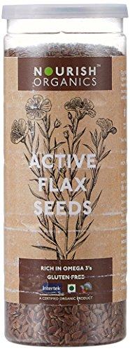 Nourish Organics Active Flax Seeds, 180g