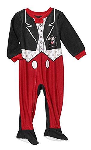 Baby Mickey Mouse Smoking Footed Pyjama Decke SCHL?fer (18 Monate) - - Footed Pyjamas