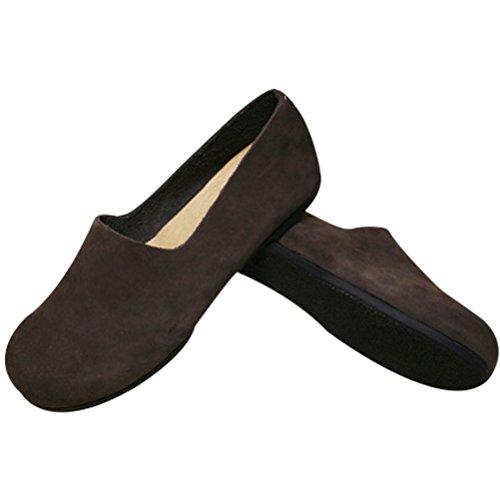 Vogstyle Damen Neuen Leder Flache Schuhe Plain Farbe schwärzlich Kaffee-Art 3