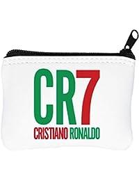 CR7 Cristiano Ronaldo Billetera con Cremallera Monedero Caratera