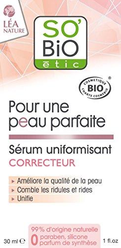 SO'BiO étic Sérum Uniformisant Correcteur pour une Peau Parfaite 30 ml