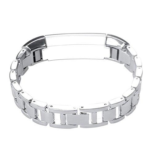 Fitbit Alta Armband, AISPORTS Fitbit Alta HR Edelstahl-Band Ananas-Muster Smart Watch Ersatz-Bänder Metall Armband Schnalle Verschluss für Fitbit Alta/Fitbit Alta HR Fitness Zubehör