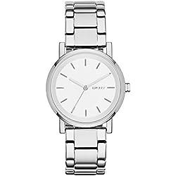 DKNY–Reloj de pulsera digital cuarzo acero inoxidable ny2342