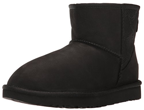 UGG classic mini black snake in pelle Schwarz
