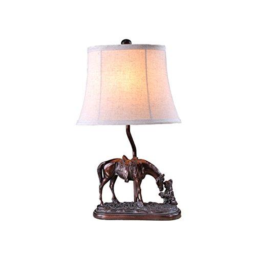 personnalité simple Style américain poney lampe de table rétro chambre Creative lampe de table lampe de chevet style européen personnalité décoration