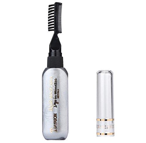 Covermason Haar-Kreide, Haar Colorationen, Haarfärbemittel, ungiftige,waschbare,temporäre Haarfarbe,Pastel Haar Kreide (Grau)
