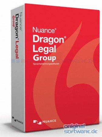 Nuance Dragon Legal Group Lizenz für 1 Benutzer (Medialess ohne Datenträger) - Nuance Software-download