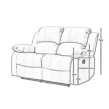 Athon furniture Black 3+2 seater, Double Recliner Sofa set, Quality Premium Leather settee, Couche suite