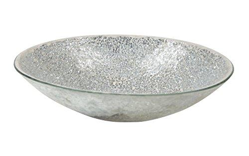 Mosaik-Glas Deko-Schale silber/hellgrau -