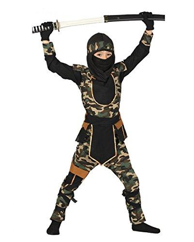 Camouflage Ninja Kostüm für Kinder | M-XL XL