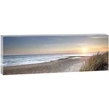 Weg zum Strand sw Bilder auf Leinwand Poster Nordsee Meer 100 cm*65 cm 544