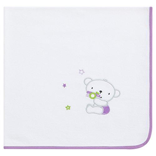 Arrullo para bebé punto de algodón (80x80 cm) DINKY lila