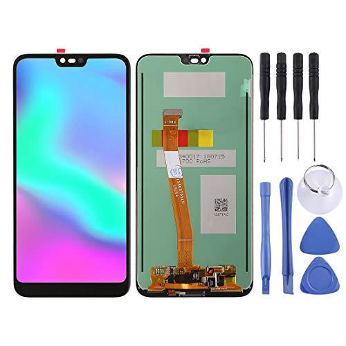 WWL Telefone Ersatzteile LCD-Bildschirm und Digitizer Vollversammlung, Unterstützung Fingerabdruck-Identifikation Für Huawei Honor 10 (Schwarz) (Farbe : Black)