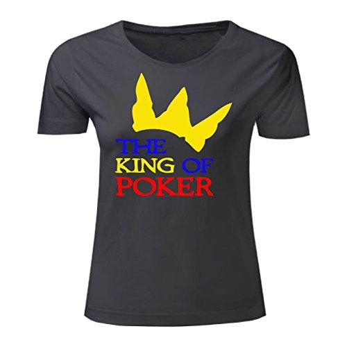 Art T-shirt, Maglietta The King of Poker, Donna Nero