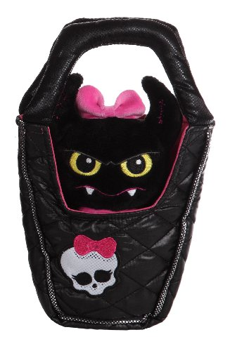 Gipsy 54733 - Monster High Plüschtier Fledermaus in Handtasche - Draculaura, 25 cm