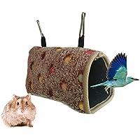Bello Luna Bird Hammock Warm Bird Hut para Jaula con 2 Ganchos para Ratones hámster Loro