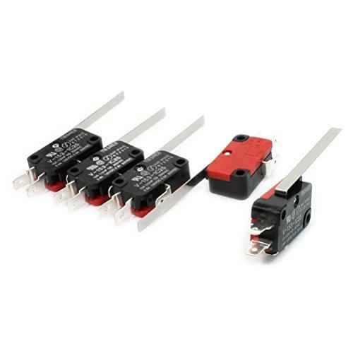 ROSENICE 5 Pezzi Mini Interruttore a Levetta SPDT Micro Interruttore Leva Lunga
