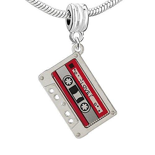 Sexy Sparkles Love cuenta para pulsera (cinta de casete Compatible para la mayoría de pulseras de cadena de serpiente de la mujer