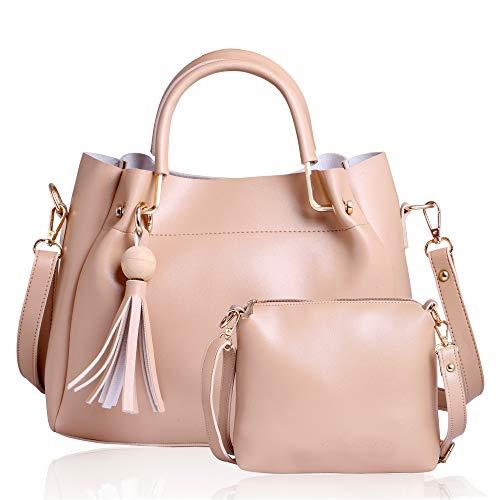 CLASSIC FASHION Women's Pu Hand Bag (Cream)