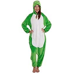 Pijamas Disfraz Adultos Mujer Hombre Animales Divertidas Temporada Moda (M (160-170 cm), Sapo)