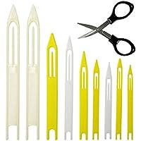 8pcs plástico línea de pesca reparación red aguja volantes tamaño: 1# 2# 3# 4# 5# 6# 7# 7+ #