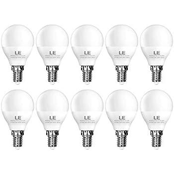 LE Bombillas LED, E14 5.5W Equivalente a 40W Incandescente, 470lm, Blanco Cálido