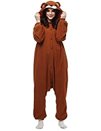 Hstyle Unisex Animal Pijamas Ropa De Dormir Trajes Disfraz Onesie Pyjamas Cosplay Costume