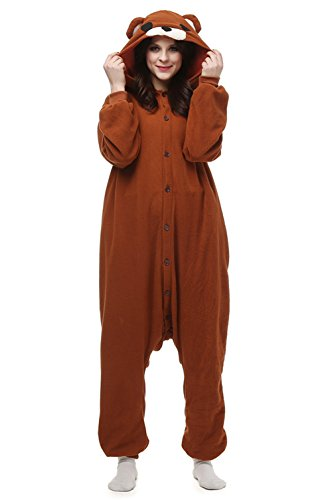 Hstyle Unisexe Adulte Pyjama Onesie Cospaly Anime Animal Costume Combinaison Outfit Nuit Vêtements,...