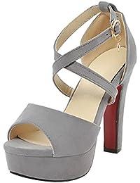 f13a3d67b6b44 Suchergebnis auf Amazon.de für: graue high heels - Damen / Schuhe ...
