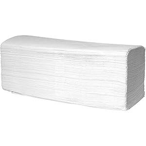wellsamed Papierhandtücher Zellstoff 2-lagig ZZ-Falz Hochweiß 25 x 23 cm 800 Blatt Handtuchpapier Falthandtücher Papiertücher weiß