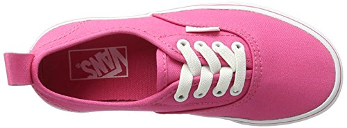 Vans Uy Authentic Elastic Lace, Baskets Basses Fille Rose (Hot Pink/true White)