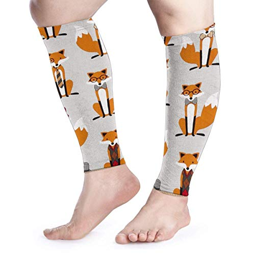 Wfispiy Unisex Wadenkompressionshülle -Gentle Fox Calf Support Leg Compression Socks for Shin Splint & Calf Pain Relief &Runners -