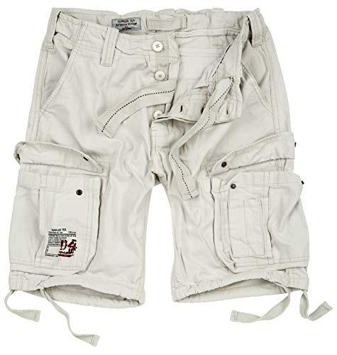 DELTA Herren Airborne Vintage Cargo Shorts, Off White, Größe XXL - White Cargo