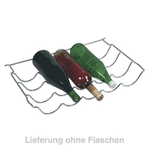 Bosch Siemens 669688 00669688 ORIGINAL Flaschenablage Flaschenregal Absteller 5 Flaschen Gitter Edelstahl 500x44x305mm z.T. KG33 KG36 KG39 KGV33 KGV36 KGV39 KGV73 KGV76 KGV79 KSK38 Kühlschrank