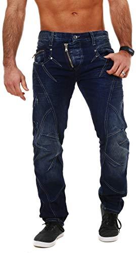 Cipo & Baxx Jeans Hose dunkelblau C-768 30/30, Dunkelblau Western Jeans-hose