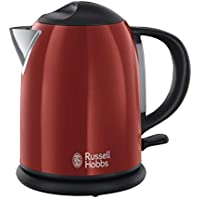 Russell Hobbs Colours Red - Hervidor de agua compacto, 1L, resistencia oculta, 2200 W, acero inoxidable color rojo - ref. 20191-70