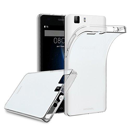 HOOMIL Doogee X5 Hülle, Silikon Transparent Handyhülle für Doogee X5 / X5S / X5 Pro Schutzhülle Soft TPU Bumper Case Cover (Durchsichtig) - H3214
