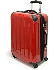 XAVION® Reisekoffer aus Polycarbonat - Trolley, Koffer, in ROT - Gr. XL/78cm/115L